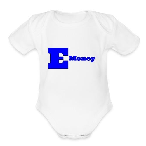 EMoney #1 - Organic Short Sleeve Baby Bodysuit