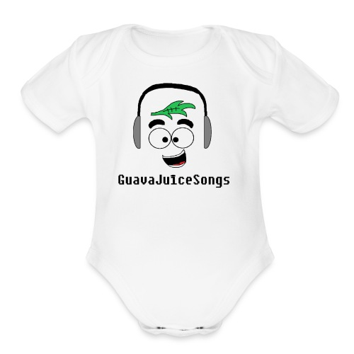 Guavajuicesongs (OFFICIAL T SHIRT) - Organic Short Sleeve Baby Bodysuit