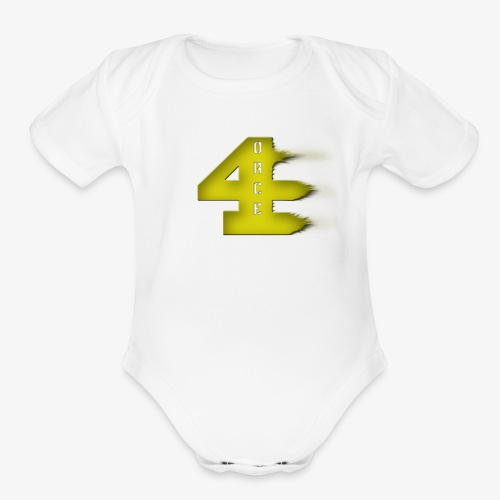 4orce (Yellow) - Organic Short Sleeve Baby Bodysuit