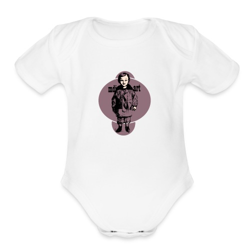 mdj art cool kid - Organic Short Sleeve Baby Bodysuit