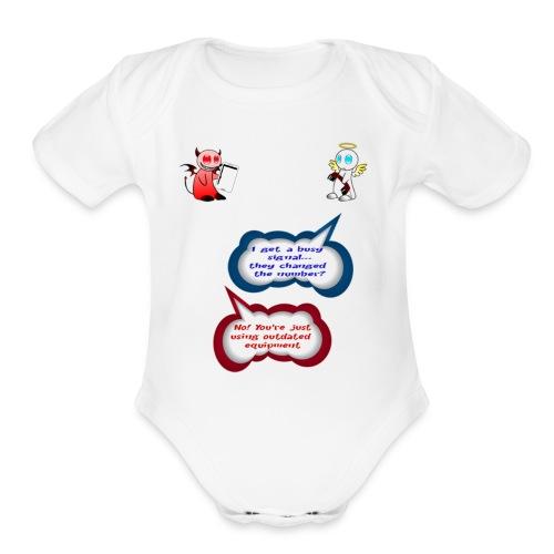Angel and Devil - Organic Short Sleeve Baby Bodysuit