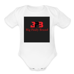 Big Pauly Brand Red Print With Logo - Short Sleeve Baby Bodysuit