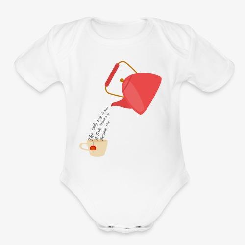 tea - Organic Short Sleeve Baby Bodysuit