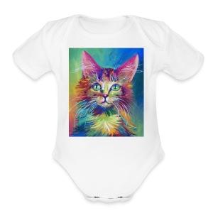 Tigero - Short Sleeve Baby Bodysuit