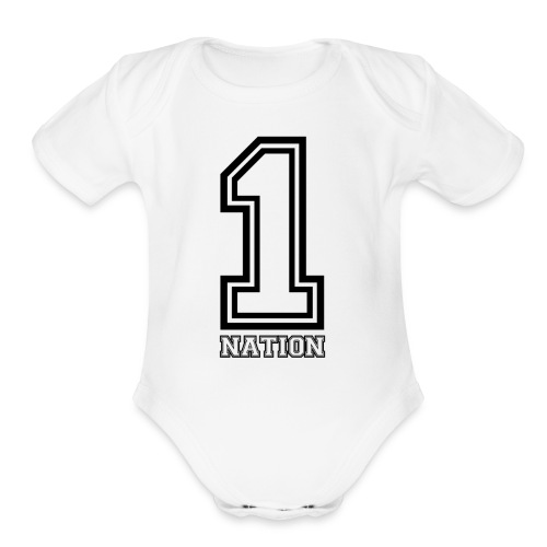 OneNationTeam - Organic Short Sleeve Baby Bodysuit