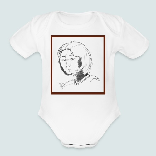 Self-portrait of Hye Rin Woo - Organic Short Sleeve Baby Bodysuit