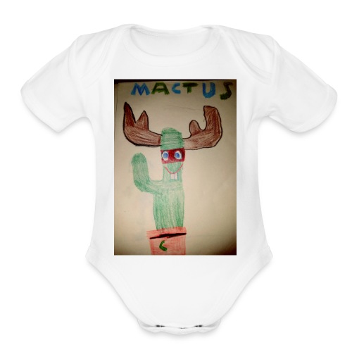 Mactus Jerry and me - Organic Short Sleeve Baby Bodysuit