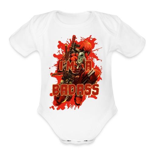 Deadpool - Organic Short Sleeve Baby Bodysuit