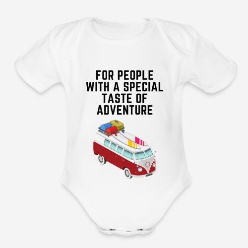 volkswagengraveyard designs - Organic Short Sleeve Baby Bodysuit