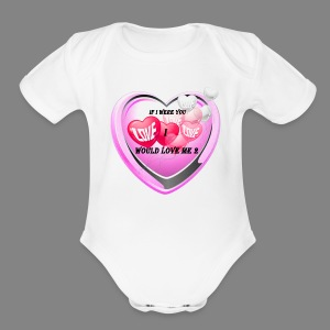 If i were you - Short Sleeve Baby Bodysuit