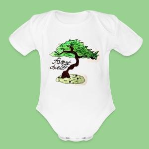 forest dweller Tree - Short Sleeve Baby Bodysuit
