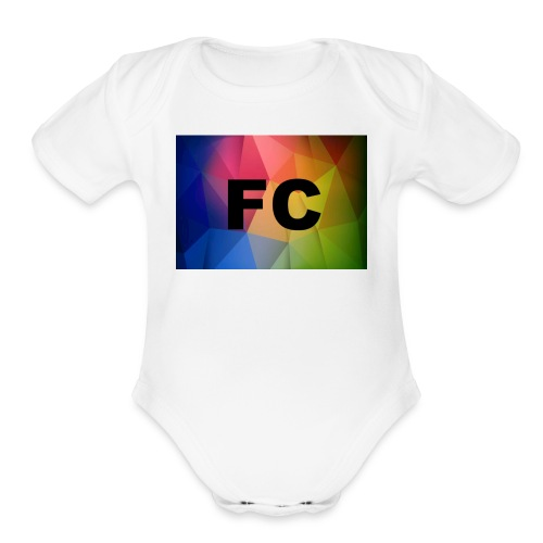 Abstract Colorful Geometric Shapes Background Vect - Organic Short Sleeve Baby Bodysuit