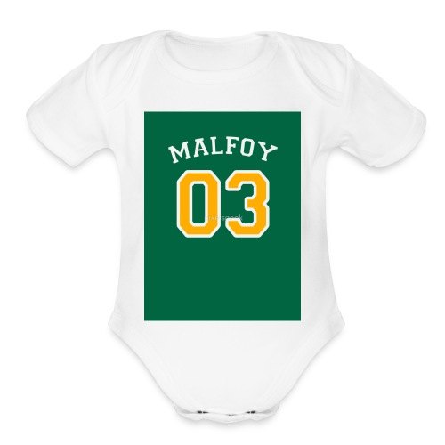 Malfoy 03 - Organic Short Sleeve Baby Bodysuit