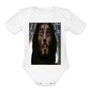 JESUS1.5 - Short Sleeve Baby Bodysuit
