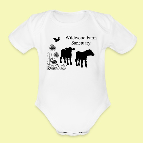 Cows - Organic Short Sleeve Baby Bodysuit