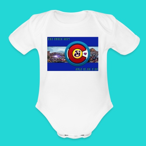 SCI String Cheese Incident Red Rocks 2017 2 - Organic Short Sleeve Baby Bodysuit