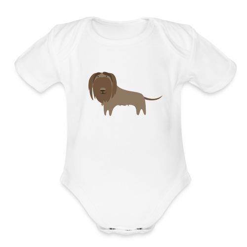 beardy - Organic Short Sleeve Baby Bodysuit