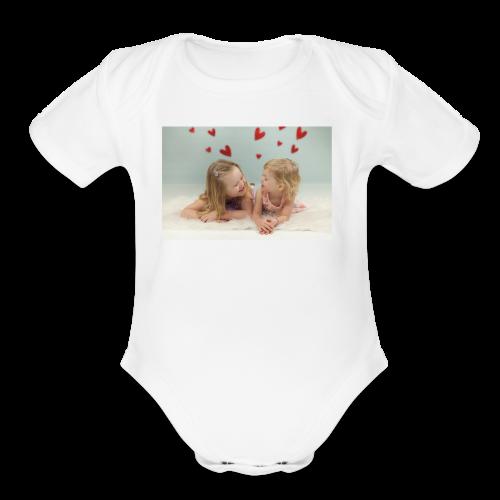 Liv and Viv - Organic Short Sleeve Baby Bodysuit