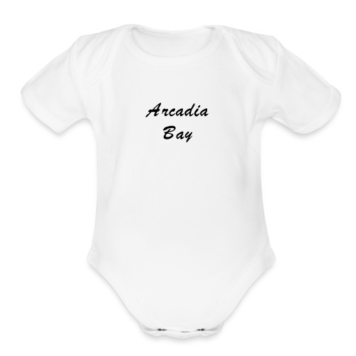 Arcadia Bay Logo - Organic Short Sleeve Baby Bodysuit