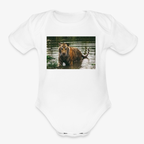TIGER - Organic Short Sleeve Baby Bodysuit