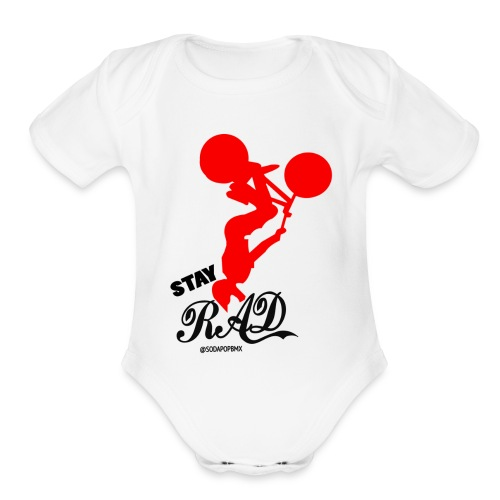 Stay Rad Black - Organic Short Sleeve Baby Bodysuit
