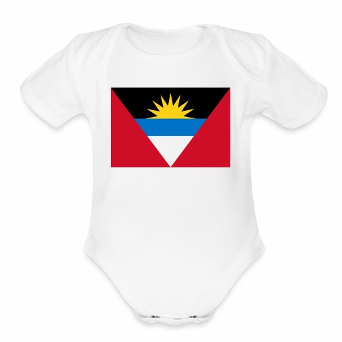 Flag of Antigua and Barbuda - Organic Short Sleeve Baby Bodysuit