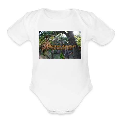 Rotten Apples design - Organic Short Sleeve Baby Bodysuit