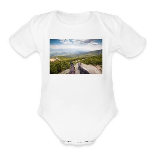 Outdoorsy Life - Organic Short Sleeve Baby Bodysuit