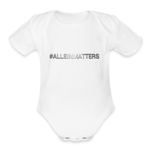 All Sin Matters - Organic Short Sleeve Baby Bodysuit