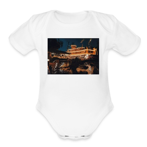 Peaceful Night - Organic Short Sleeve Baby Bodysuit