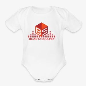 RETRO RED with whitee shirt - Short Sleeve Baby Bodysuit