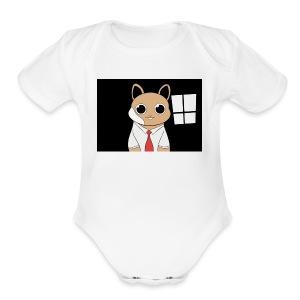 Pete The Hamster - Short Sleeve Baby Bodysuit