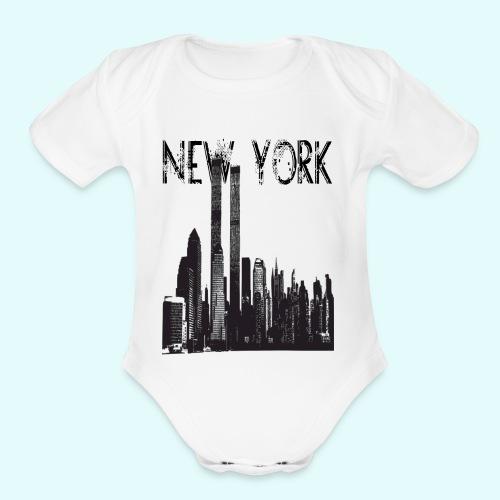 NEW_YORK - Organic Short Sleeve Baby Bodysuit