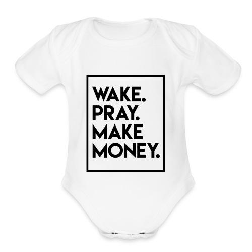 wakepray - Organic Short Sleeve Baby Bodysuit