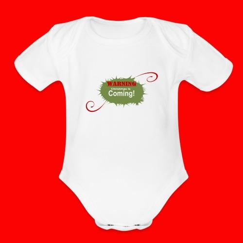 Christmas_is_Coming - Organic Short Sleeve Baby Bodysuit