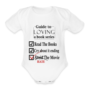 Guide To Loving A Book Series (Black) - Short Sleeve Baby Bodysuit
