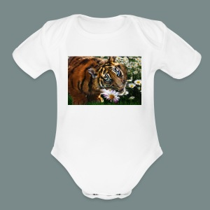 Tiger flo - Short Sleeve Baby Bodysuit