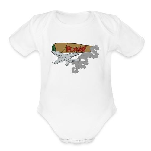 RawJetsTshirt - Organic Short Sleeve Baby Bodysuit