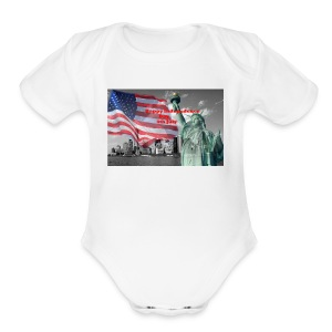 USA Independence Day - Short Sleeve Baby Bodysuit