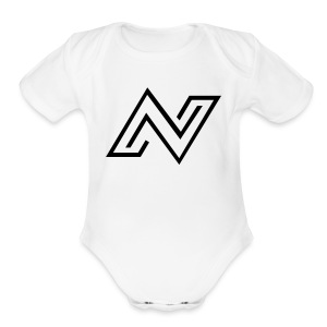 N Logo - Short Sleeve Baby Bodysuit
