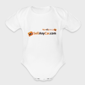 Sellanycar.com orange! - Short Sleeve Baby Bodysuit