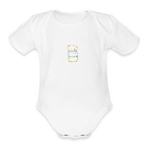 three little bunnies - Short Sleeve Baby Bodysuit