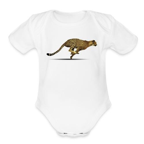 Cheetah Free PNG Image - Organic Short Sleeve Baby Bodysuit
