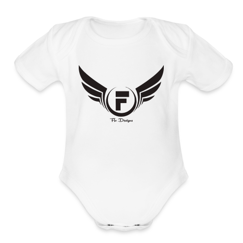 Flo's Limited Edition brand name and logo - Organic Short Sleeve Baby Bodysuit