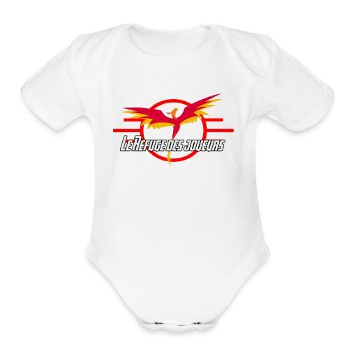 Official Logo LRJ - Organic Short Sleeve Baby Bodysuit