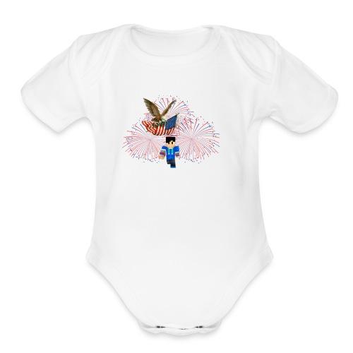 god bless - Organic Short Sleeve Baby Bodysuit