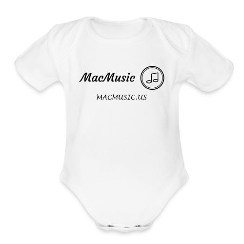 MacMusic - Organic Short Sleeve Baby Bodysuit