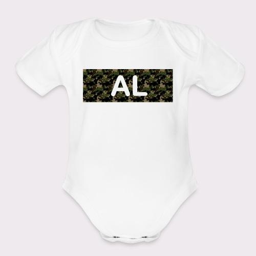 camo al - Organic Short Sleeve Baby Bodysuit