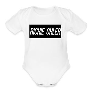 Richie Ohler Shirt Logo - Short Sleeve Baby Bodysuit