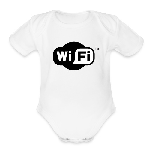 WiFi Logo svg - Organic Short Sleeve Baby Bodysuit